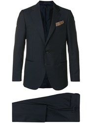 Caruso Two Piece Formal Suit Blue