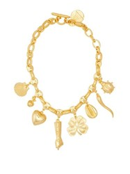 Rebecca De Ravenel All My Lucky Stars Gold Plated Charm Necklace Gold