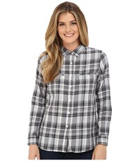 United By Blue Ash Plaid Shirt Black White Women's Clothing