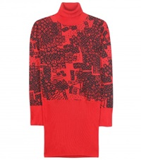 Loewe Printed Turtleneck Sweater Red