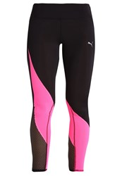 Puma Explosive Tights Black Knockout Pink