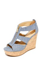 Michael Michael Kors Damita Wedges Washed Denim