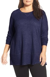 Sejour Plus Size Women's Thermal Tunic Navy Patriot