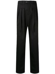 Strateas Carlucci Pleated Tailored Trousers Black