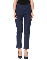 Philosophy Di Alberta Ferretti Trousers 3 4 Length Trousers Women Dark Blue