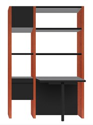Bdi Semblance 5412 Pb 2 Section Office System With Peninsula Desk