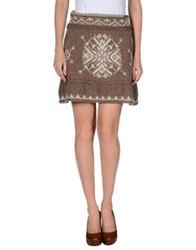 Pour Moi Pour Moi Knee Length Skirts Beige