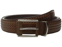 Stacy Adams Fidello 35Mm Diamond Embossed Belt Cognac Men's Belts Tan
