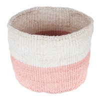 The Basket Room Colour Block Jioni Hand Woven Pink