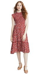 Lost Wander Pick Me Midi Dress Red Floral