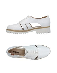 Mtng Lace Up Shoes White
