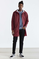 Rains Long Jacket Maroon