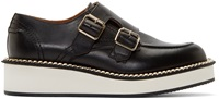 Givenchy Black Leather Monk Strap Prore Loafers