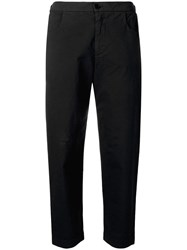 Barena Cropped Slim Fit Trousers Black
