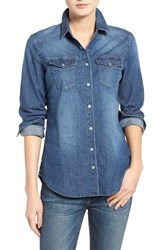 True Religion Women's Brand Jeans Georgia Denim Shirt