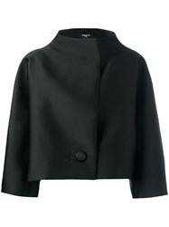 Paule Ka Boxy Funnel Neck Jacket Black