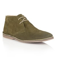 Lotus Wickford Lace Up Casual Desert Boots Green