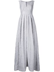 Dice Kayek Floral Jacquard Gown Grey