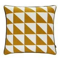 Ferm Living Large Geometry Cushion 50X50cm Curry
