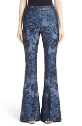 St. John Women's Collection Floral Brocade Flare Pants