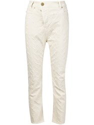 Vivienne Westwood Anglomania Ripped Boyfriend Jeans White