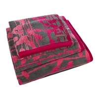 Clarissa Hulse St Lucia Towel Hot Pink