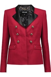 Just Cavalli Embellished Crepe Blazer Brick