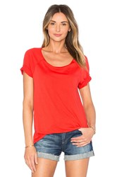 Splendid Very Light Jersey Scoop Neck Tee Red
