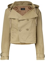G.V.G.V. Hooded Cropped Trench Jacket Green