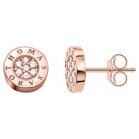 Thomas Sabo Glam And Soul Zirconia Pave Stud Earrings Rose Gold