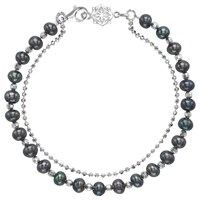 Dower And Hall Orissa Freshwater Pearl Bracelet Silver Black