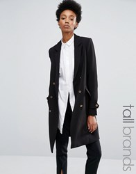 Y.A.S Tall Millie Millitary Double Breasted Coat Black