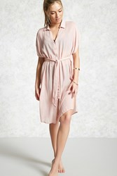 Forever 21 Draped Cover Up Shirt Dress