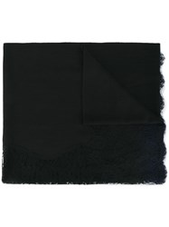 Janavi Lace Trim Scarf Black