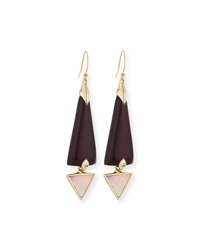Lucite Dangle Earrings With Mother Of Pearl Black Cherry Alexis Bittar