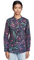 Figue Lotti Top Harrison Floral Midnight Navy