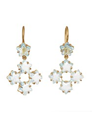 Marie Helene De Taillac Aquamarine And Yellow Gold Earrings