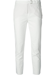 Loro Piana Skinny Cropped Trousers White