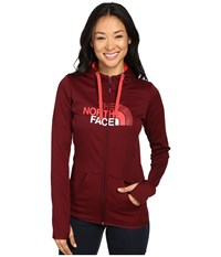 The North Face Fave Half Dome Full Zip Hoodie Deep Garnet Red Melon Red Multi Women's Sweatshirt