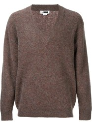 H Beauty And Youth. V Neck Jumper Brown