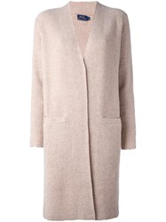 Polo Ralph Lauren Ribbed Cardi Coat Nude And Neutrals