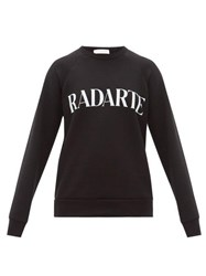 Rodarte Logo Print Cotton Jersey Sweatshirt Black White
