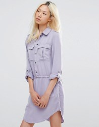 Blend She Shirt Dress Lavender Aura Blue