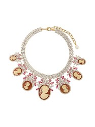 Dolce And Gabbana Crystal Embellished Necklace Metallic