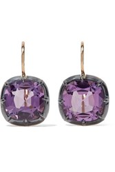 Fred Leighton Collection 18 Karat Gold Amethyst Earrings One Size