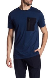 Antony Morato Contrast Zip Pocket American Fit Tee Blue