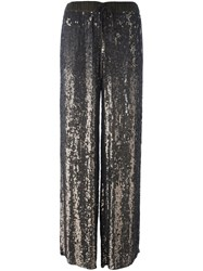 P.A.R.O.S.H. Sequin Embellished Wide Leg Trousers Green