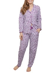 Cyberjammies Fiona Animal Print Pyjama Set Purple Multi