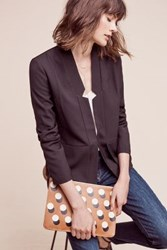 Anthropologie Double Hem Blazer Black
