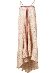 Mes Demoiselles Floral Print Flared Dress Nude And Neutrals